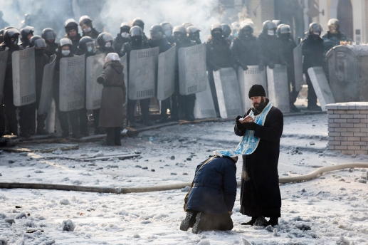 Protests Continue In Kiev As The Opposition Calls For A Snap Election