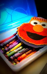 Crayons and Notepad