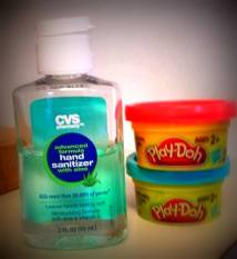 PlayDoh and Hand Sanitizer